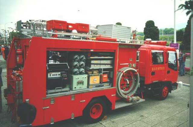Isuzu rescue pumper