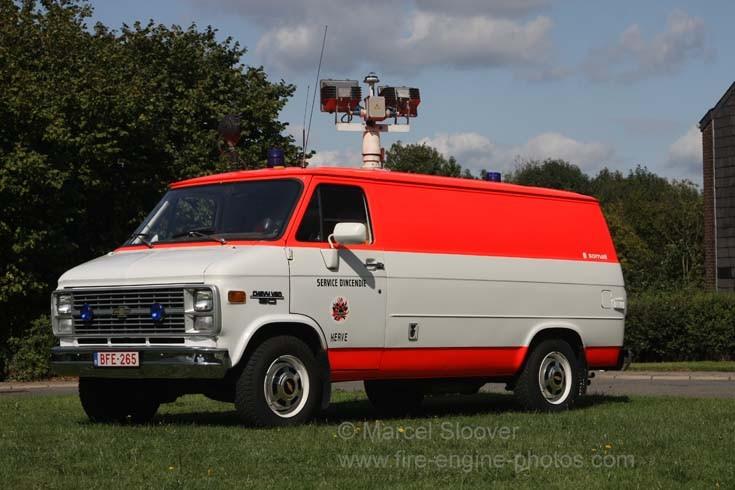Pompiers Herve Chevrolet Chevy Rescue van Battice