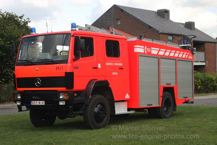Pompiers Herve Battice Mercedes pump
