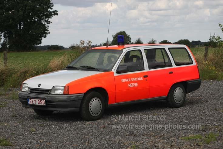 Pompier Herve Opel Kadett