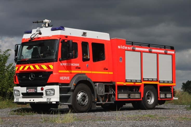 Pompier Herve Mercedes Rail Intervention Unit