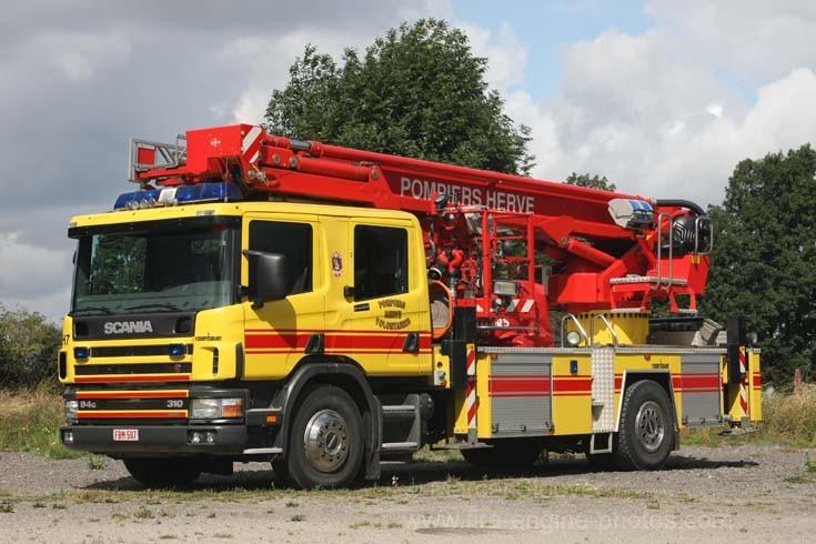Pompier Herve Scania Bronto Skylift