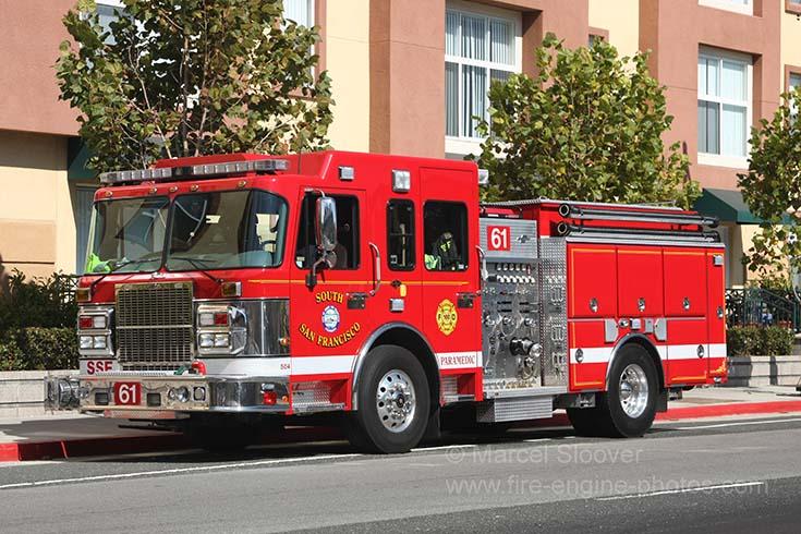 Detroit Diesel Series 60 >> Fire Engines Photos - South San Francisco Fire department Engine 61