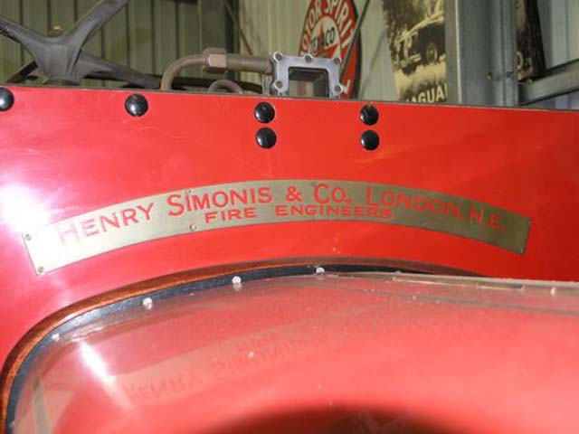 Commercar Fire Engine by Henry Simonis & Co London