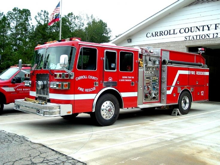 Fire Engines Photos - Carroll County Fire Rescue Engine 12