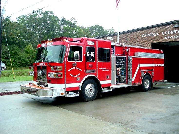 Fire Engines Photos - Carroll County Fire Rescue Engine 15