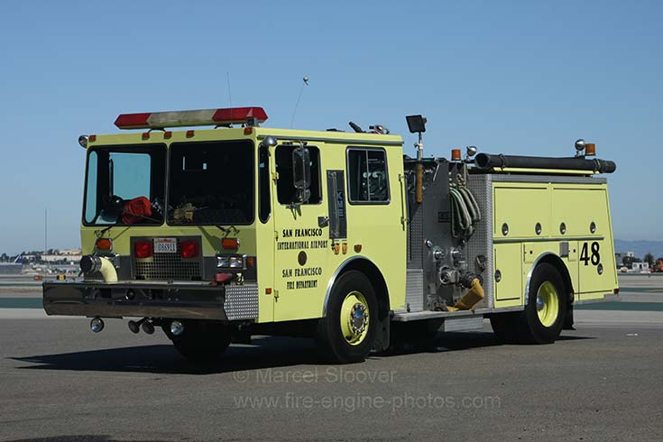 SF Airport Fire department Reserve pump KME