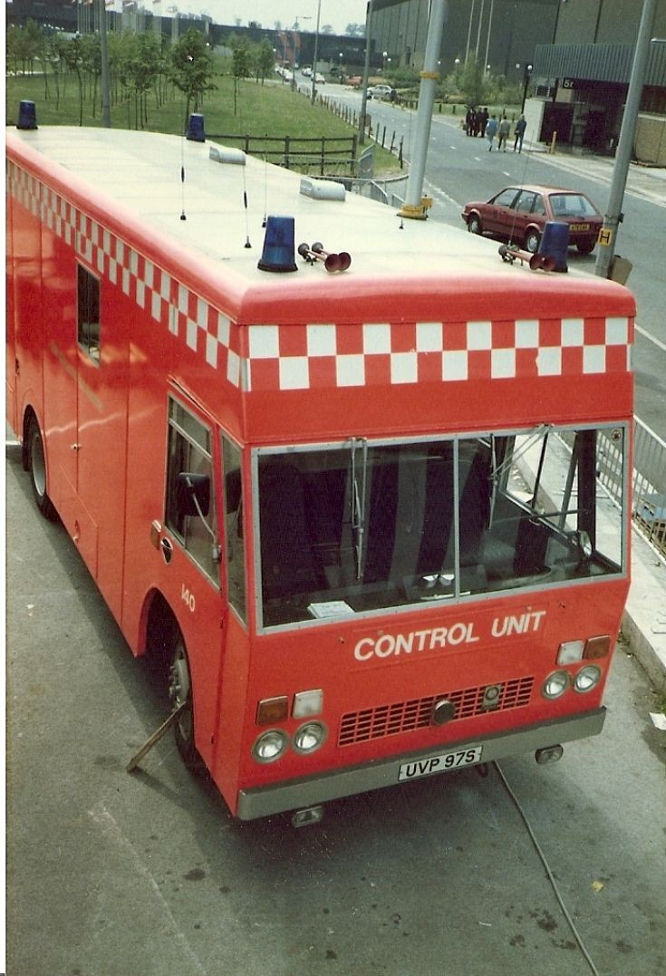Bedford Angloco CU UVP 97S 1984 fire exhibiton at NEC Birmingham.
