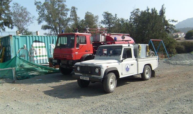 Pyrga village Fire trucks  - cyprus