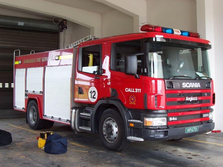 Barbados Fire Service Scania 94G Angloco