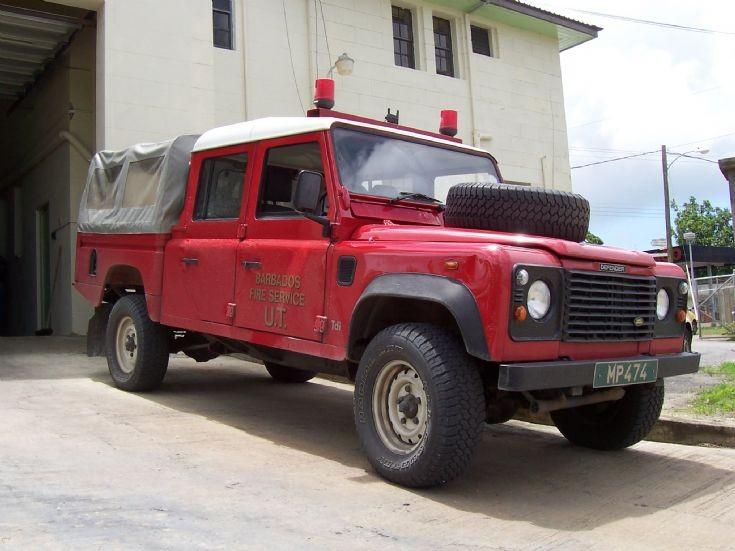 Barbados Fire Service Land Rover MP474