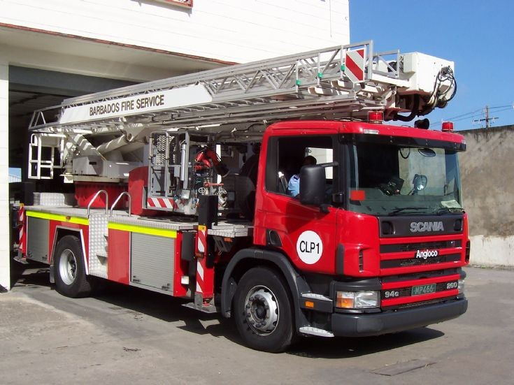 Barbados Fire Service Scania Bronto ALP