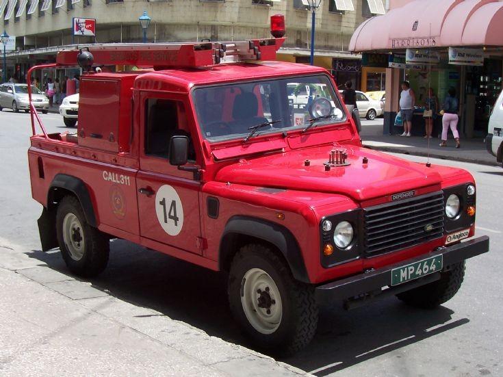 Barbados Fire Service Land Rover Defender