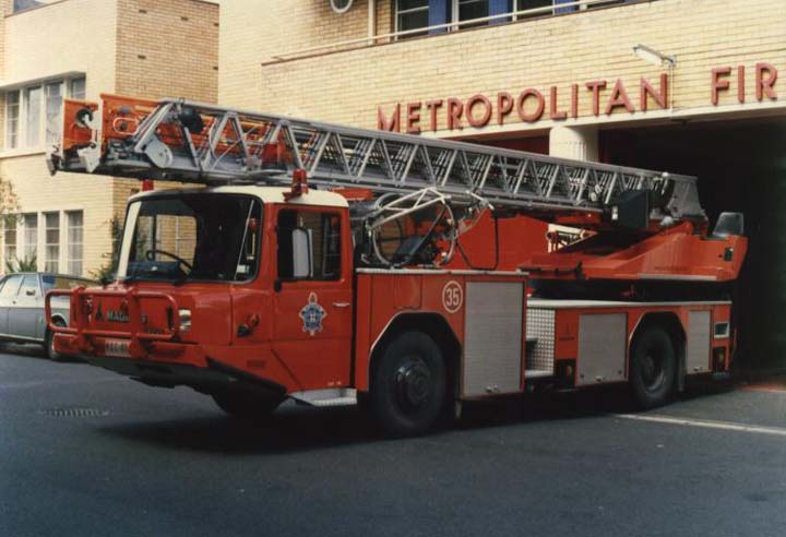 Magirus-Iveco low turntable ladder from Melbourne