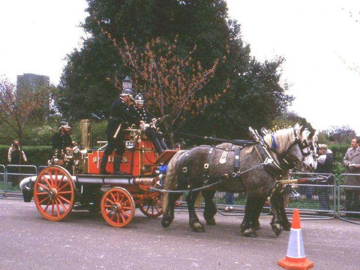 Horse-drawn fire engine - England