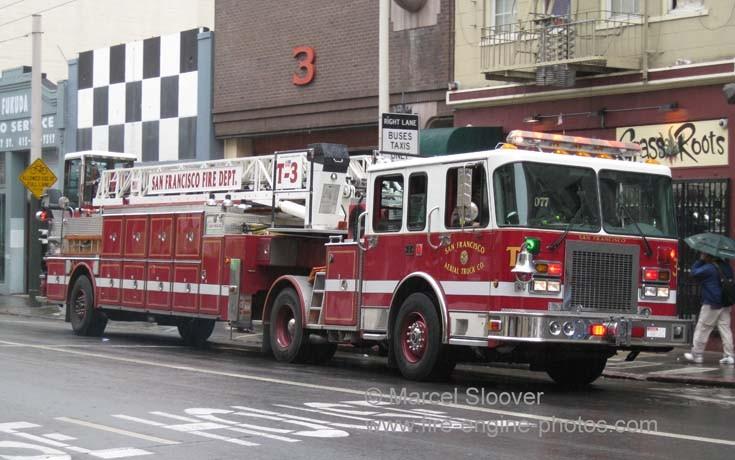 Truck 3 San Francisco Fire department.
