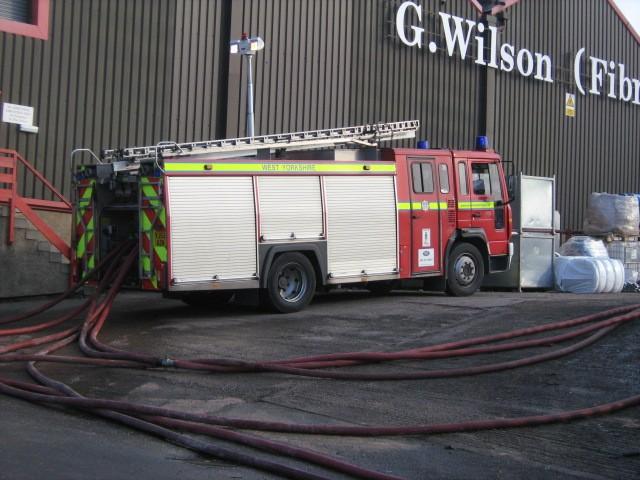 West Yorkshire engine at Dewsbury Rubbish Fire