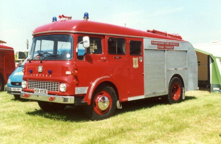 Bedford Ex Hampshire Fire Service HOR853E