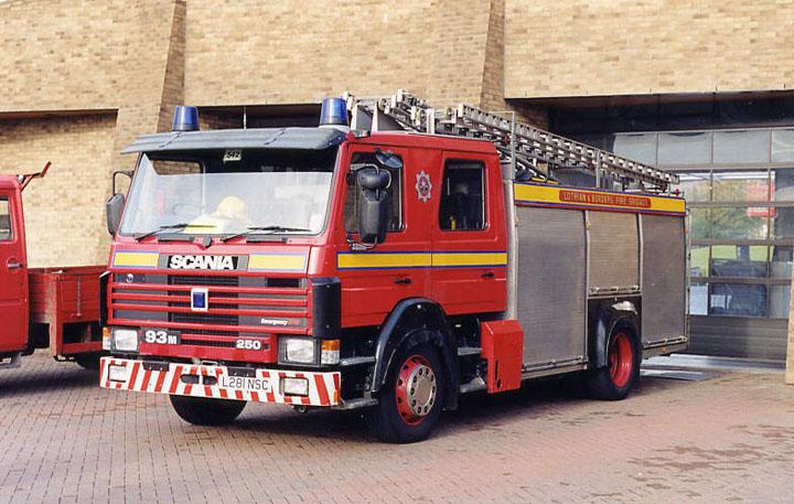 Lothian & Borders Fire brigade Scania watertender