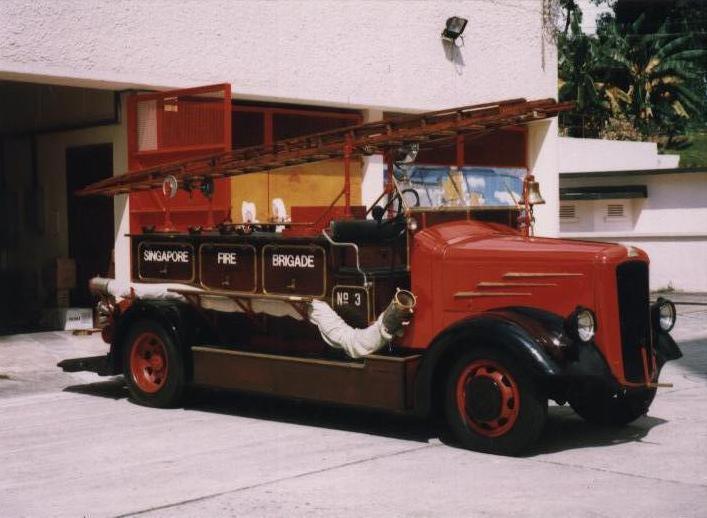 Singapore Dennis Light Six Fire engine
