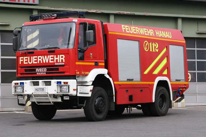 Fire brigade Hanau Germany watertender TLF 24/50