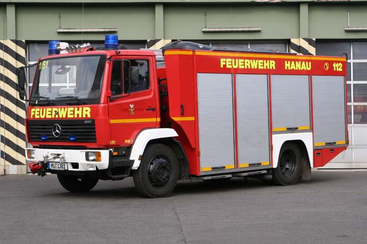 Feuerwehr Hanau Germany Rescue truck RW-1