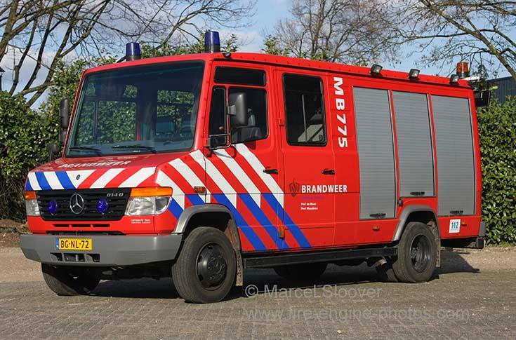 Brandweer Maasbree Rescue unit Mercedes