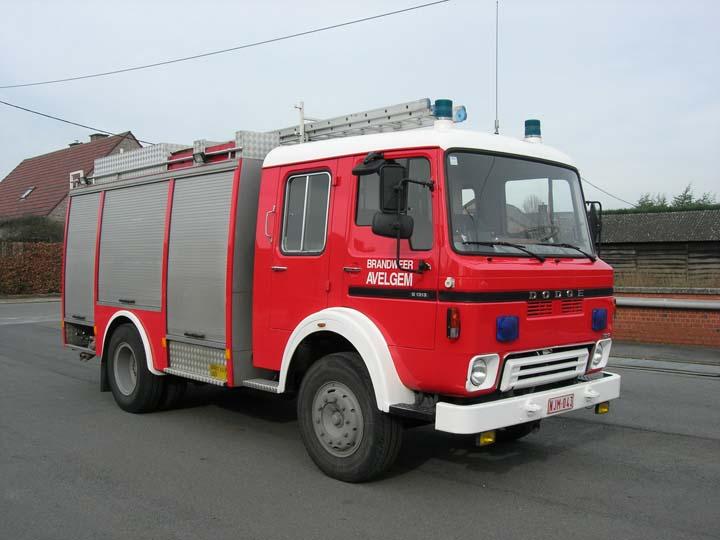 Fire brigade Avelgem Belgium  Dodge