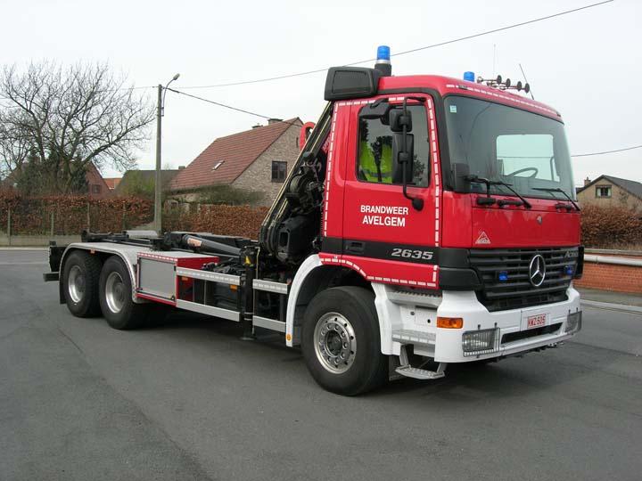 Fire brigade Avelgem Mercedes Actros prime mover