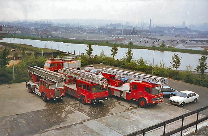 3 Generations of Turntable Ladders Belfast Ireland