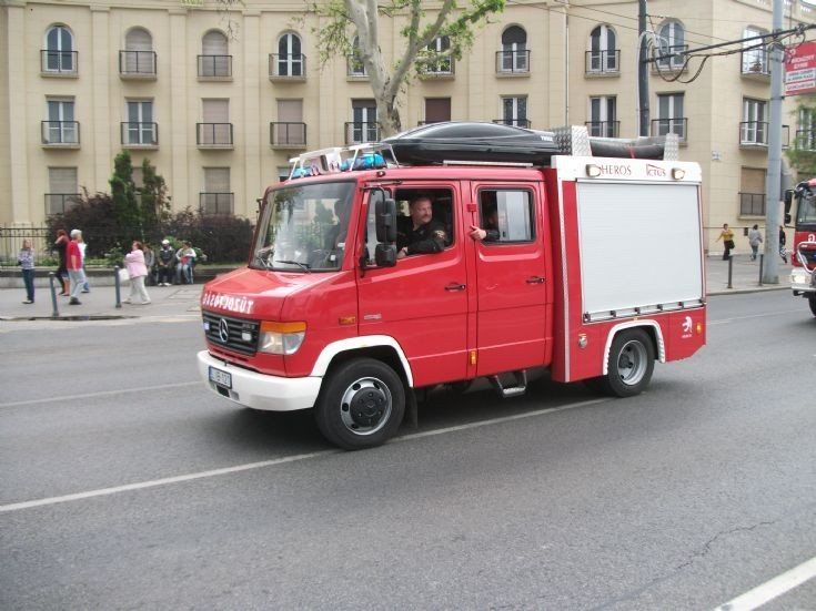 New light pumper of Budapest Fire Brigade