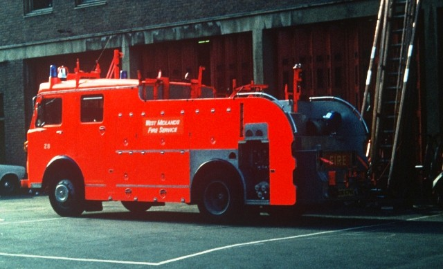 Dennis F dayglo West Midlands Fire Service
