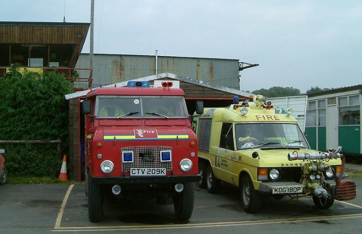 Shobdon Airfield Fire appliances