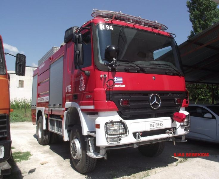 Pumper ACTROS at Chrisoupoli's F.D