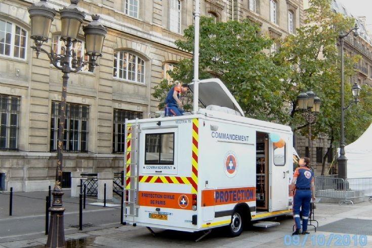 Protection Civile De Paris,Control Unit,rear