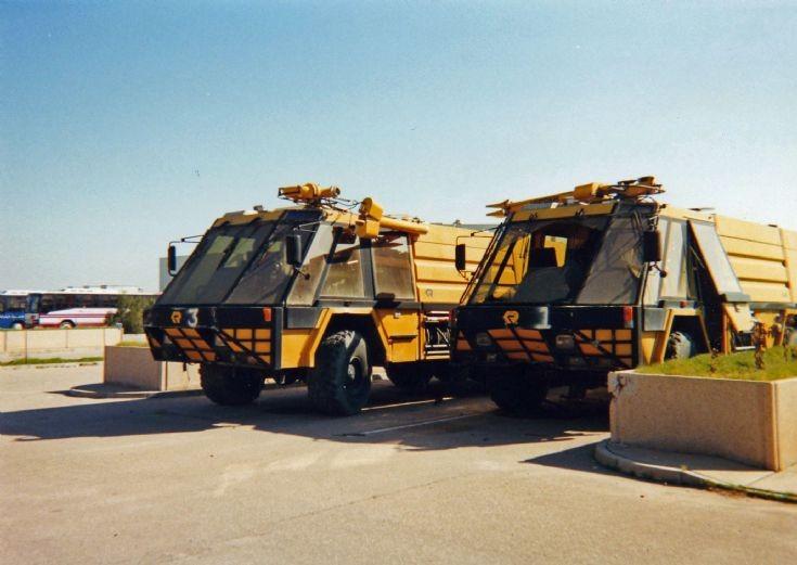 Two Rosenbauer Simba Crash Tenders