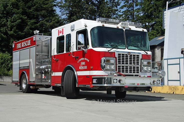Campbell River Fire dept Canada Spartan pump