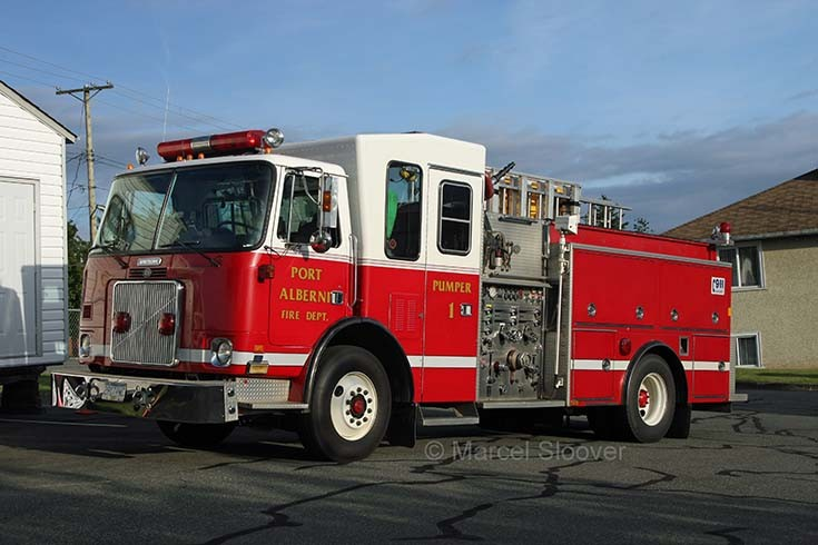 Port Alberni Fire dept BC Canada Engine 1