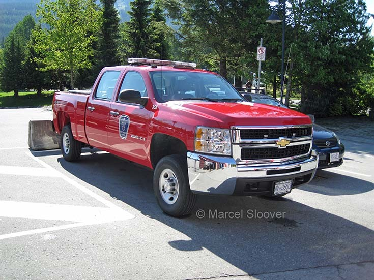 Whistler Fire department Chevrolet pickup