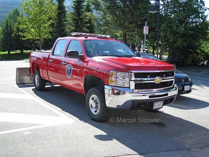 Whistler Fire department Chevrolet pickup