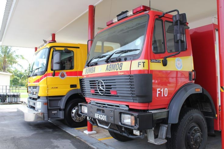 Old and New Shell Brunei Fire dept