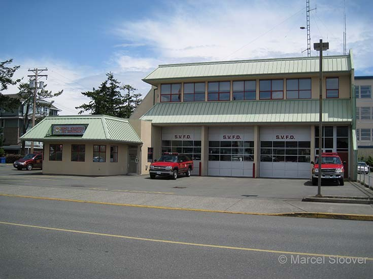 Sidney Volunteer Fire dept. Fire Hall Canada
