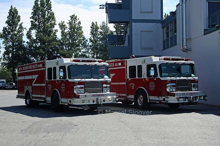 Engine 2 and Engine 3 Richmond Fire recue Canada