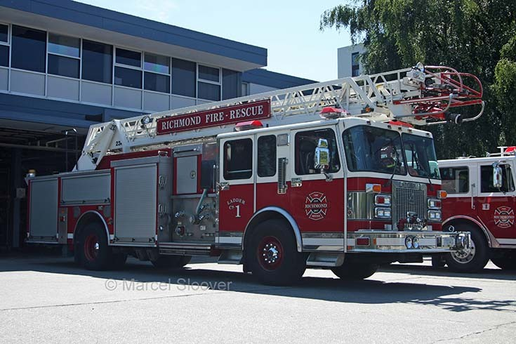 Ladder 1 Richmond BC Canada Fire dept