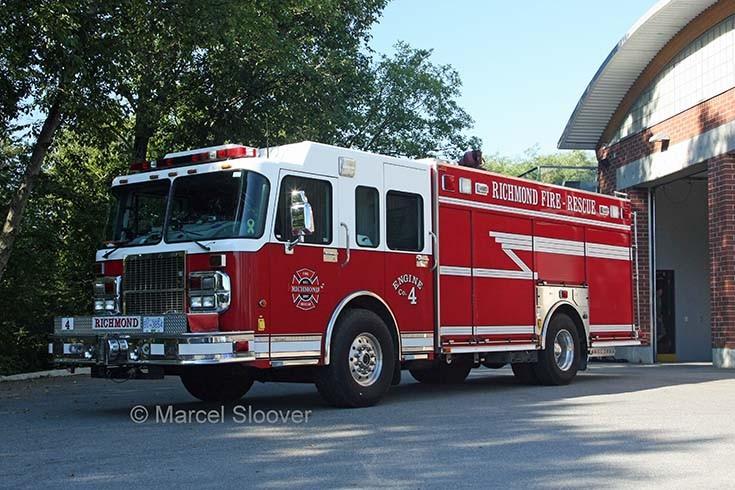 Engine 4 Richmond Fire dept BC Canada
