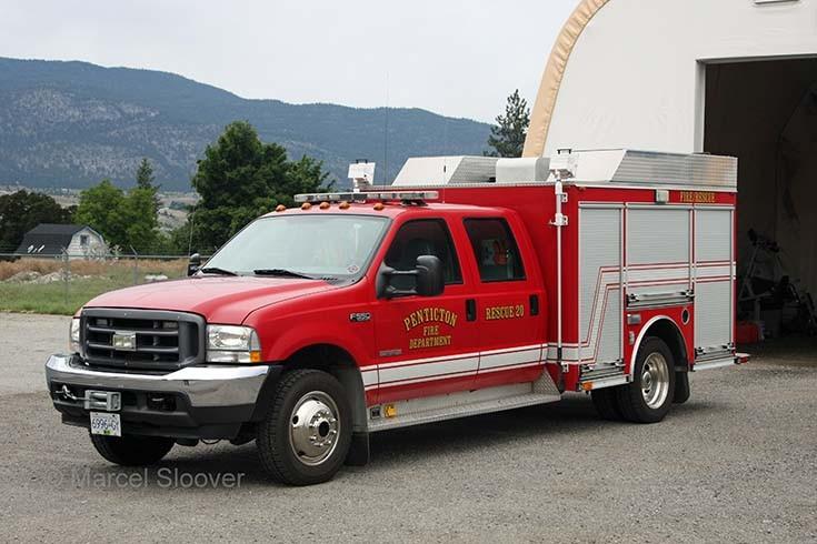 Rescue 20 Penticton FD Canada