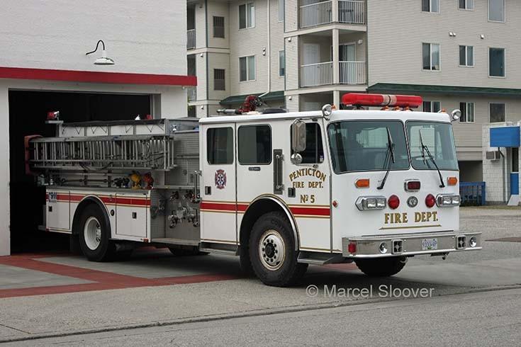 Engine Penticton Fire dept Canada