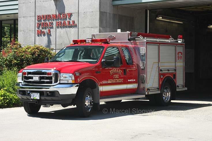 Ford F550XL Burnaby Fire dept BC Canada