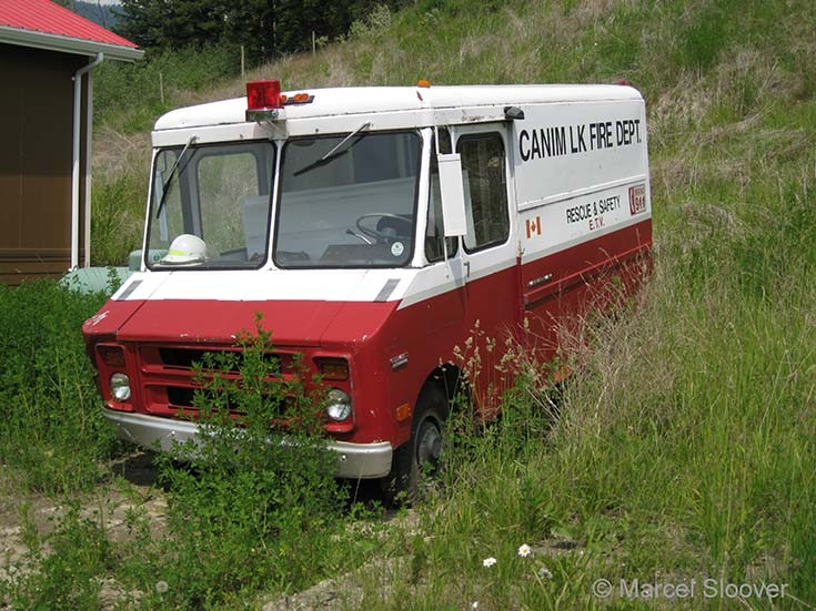 GMC van Canim Lake Fire dept