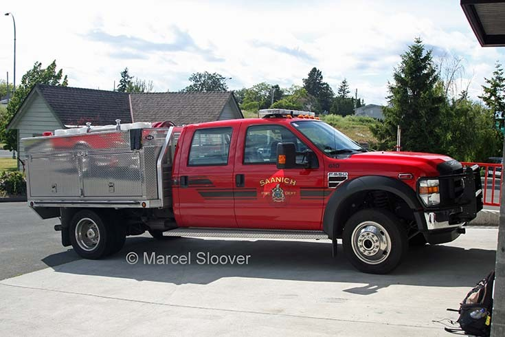 Saanich Fire department Ford F550
